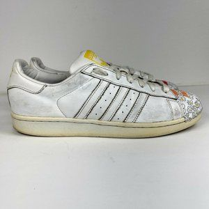 Adidas Pharell Williams Supershell Superstar Men's Size 9 White Leather Shoes